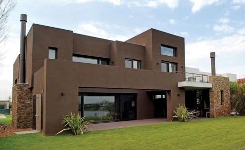 Fachadas de casas com cores fortes decorando casas for Cores modernas para fachadas de casas 2013