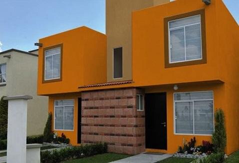 Fachadas de casas com cores fortes decorando casas for Cores modernas para fachadas de casas 2016
