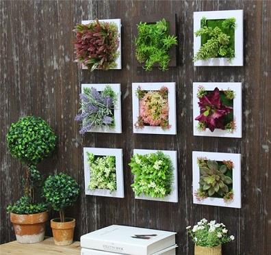 Plantas artificiais para decoração