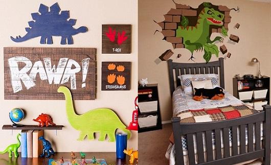 9b8326d4e1e40c Decoração de quarto tema dinossauro | Decorando Casas