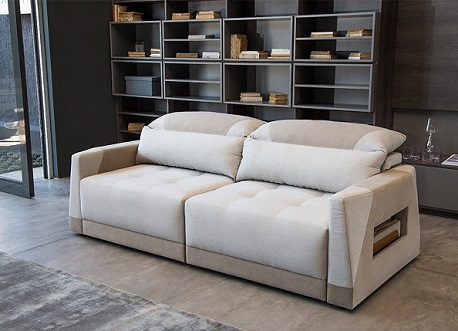 Fotos de sofá branco retrátil   Decorando Casas