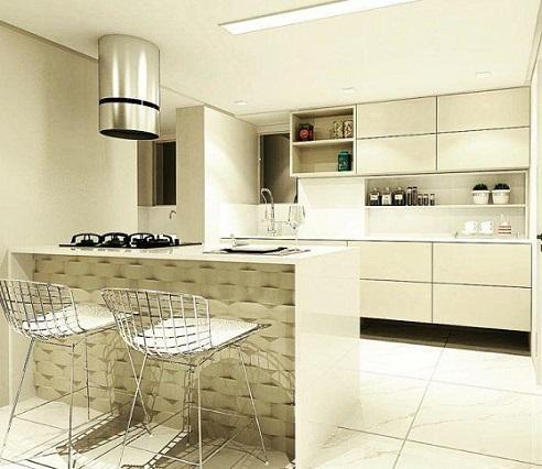 Cozinhas modernas com bancada 2019 | Decorando Casas